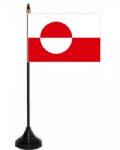 Greenland Desk / Table Flag with plastic stand and base.